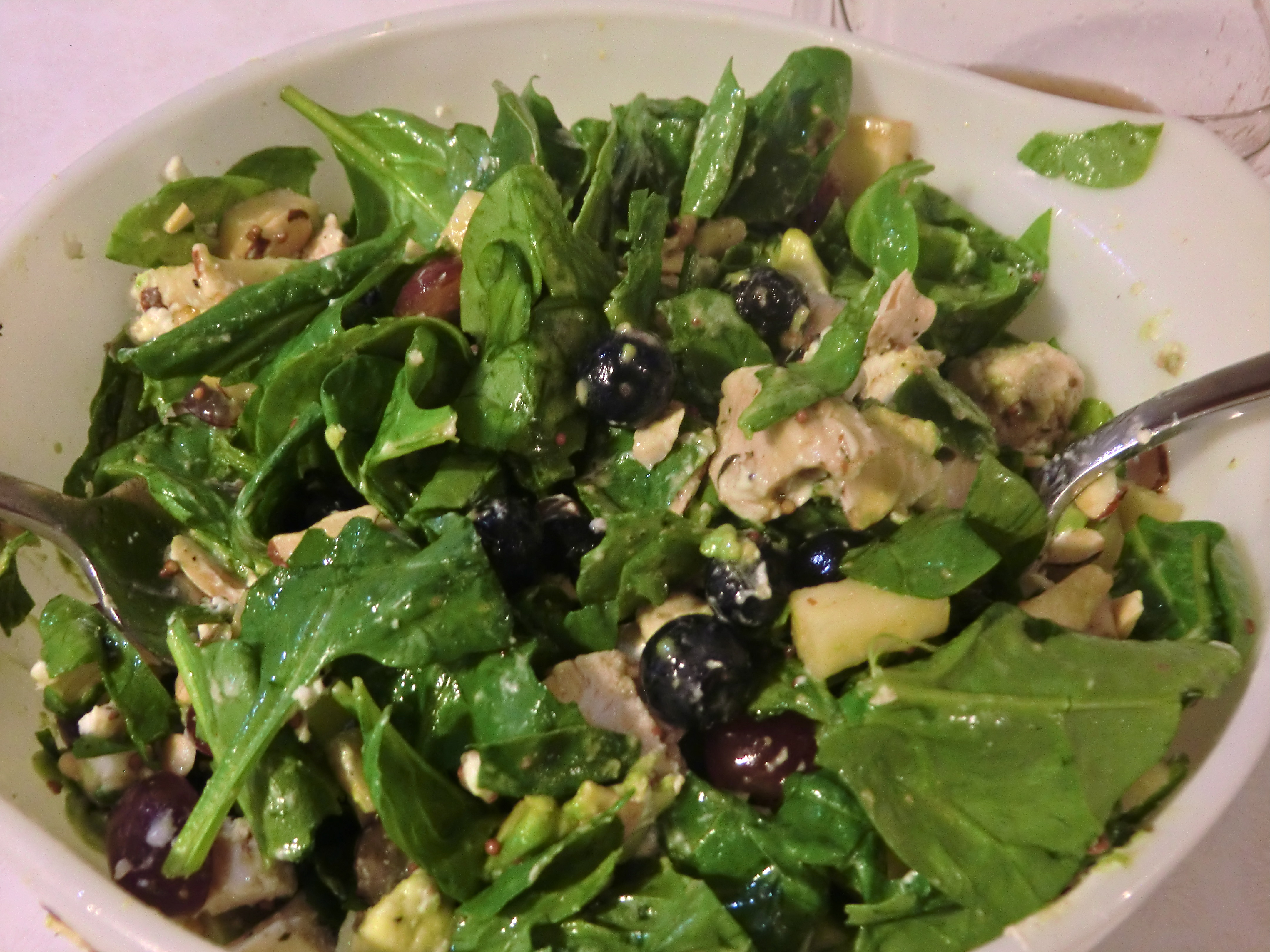 Spinach Salad With Chicken, Avocado And Goat Cheese Recipes ...