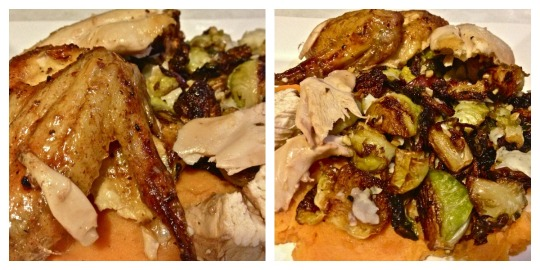Chicken, Sprouts, Sweet Potatoes Collage